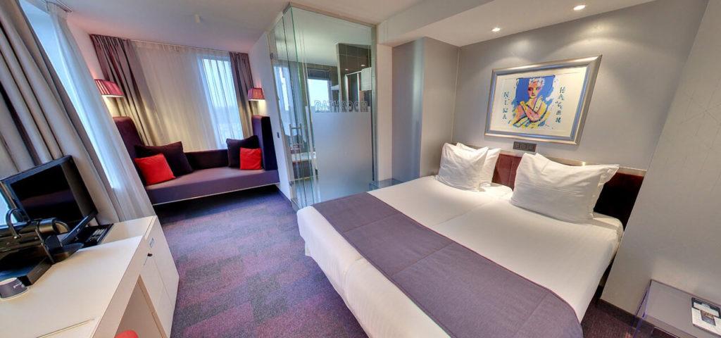 360º foto Large Twin Room Art Hotel Amsterdam - Westcord Hotels