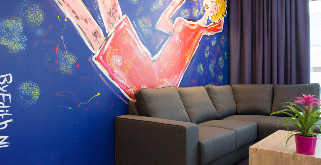 Woonkamer appartement Art Hotel Amsterdam - Westcord Hotels