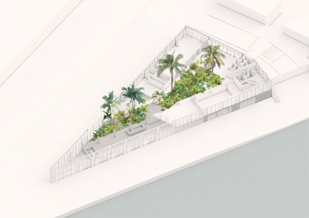 Hotel Jakarta subtropische tuin_bovenaanzicht - Westcord Hotels