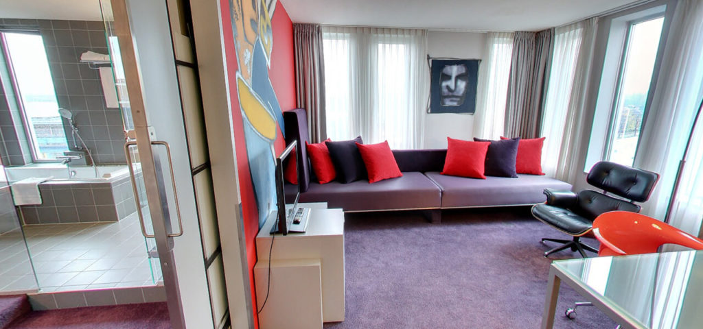 360º photo Herman Brood Suite Art Hotel Amsterdam **** - Westcord Hotels