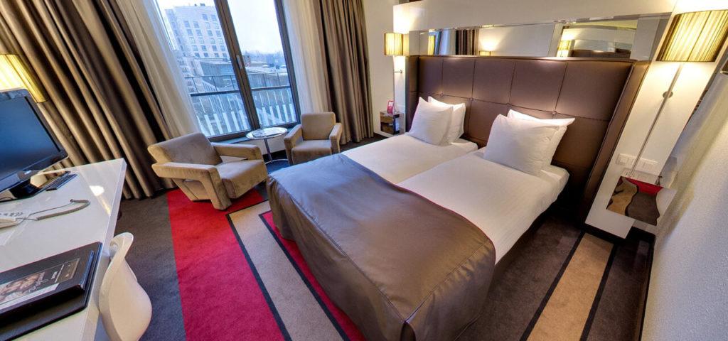 360º photo Large Fashion Twin Room Fashion Hotel Amsterdam - Westcord Hotels