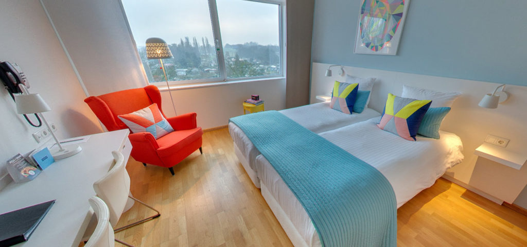 360º photo Double Room 'Colour' WestCord Hotel Delft - Westcord Hotels