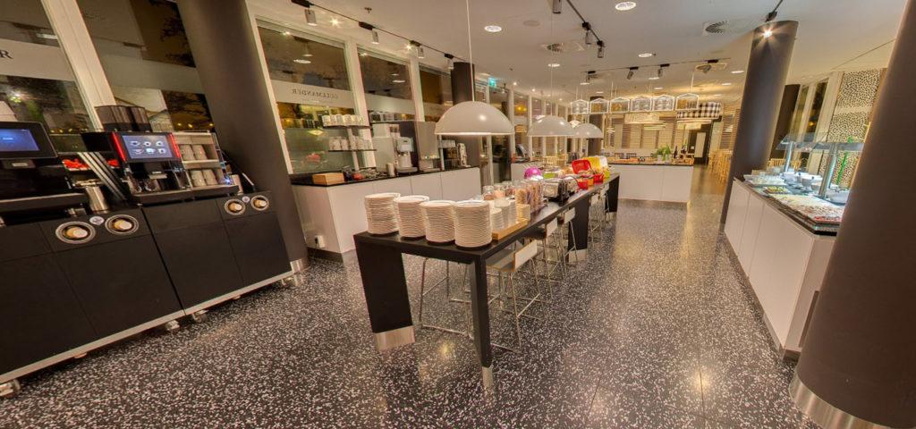 360º photo breakfast restaurant WestCord Hotel Delft - Westcord Hotels