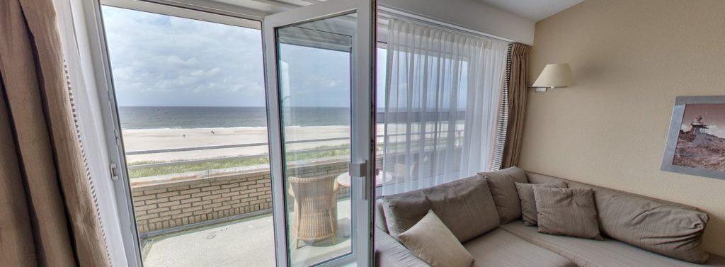 360º foto Superior Zeezijde Balkon Strandhotel Seeduyn - Westcord Hotels