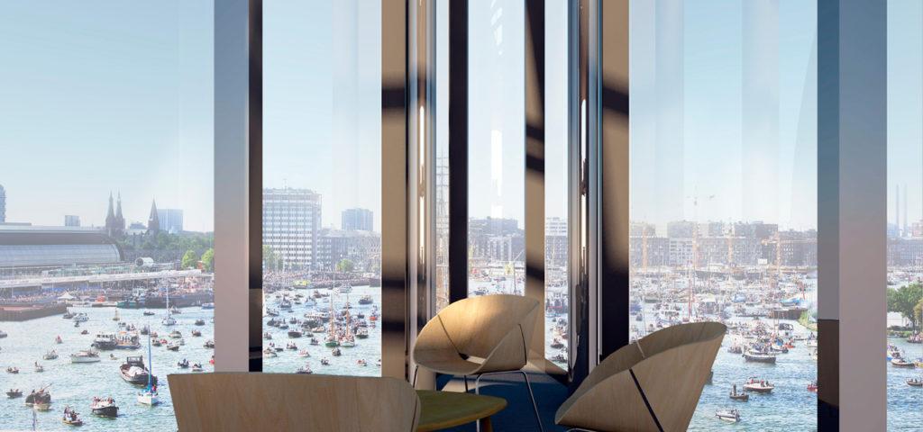 Zitje punt panoramisch zicht - HJA - Hotel Jakarta Amsterdam - WestCord Hotels - Westcord Hotels