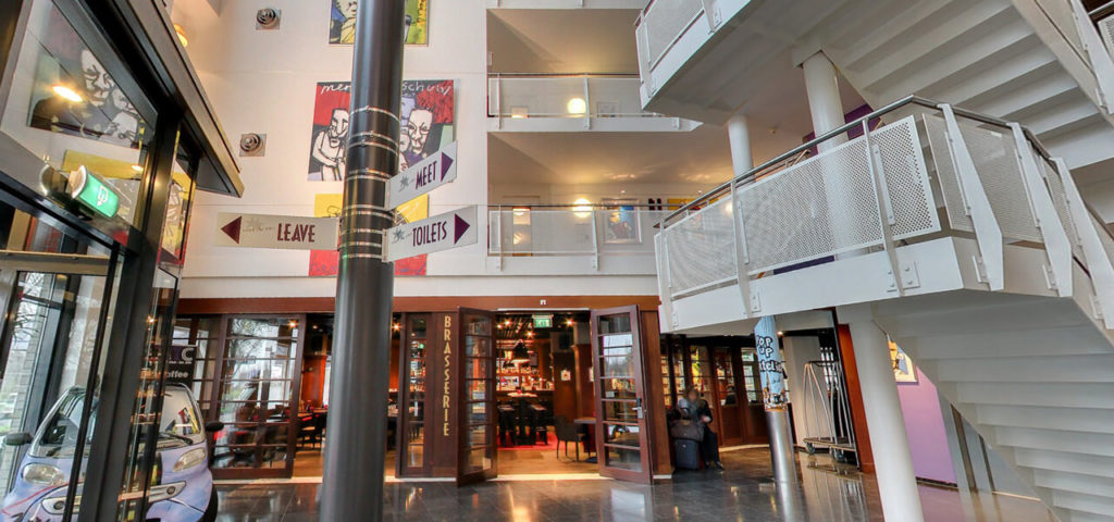 360º Foto Entree Lobby Art Hotel Amsterdam Westcord Hotels