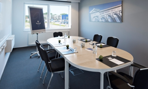Vergaderen in een boardroom in Hotel Delft