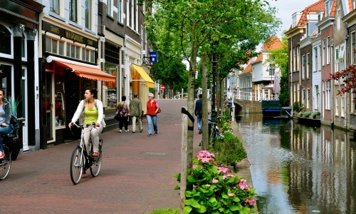 Cycling in Delft
